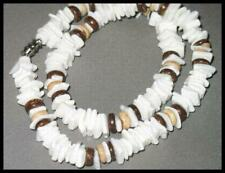 New 18'' White Shell Chip Necklace Ships Fast From Usa