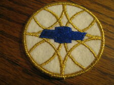 Chevrolet Patch   Blue Gold & White   Lot# PMC