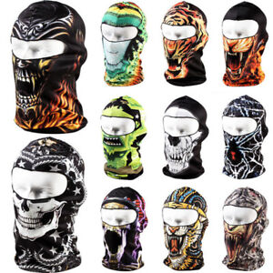 Outdoor Thin Cycling Motorcycle Skull Cap Balaclava Full Face Mask Windproof