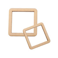 10/5Packs Unfinished Wood Hollow Square Plaque for DIY Model Making Pyrography