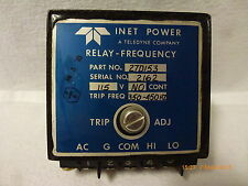 Teledyne Inet 27D153 Relay Frequency 115V No-Cont Adjust-Trip-Freq-350-450Hz New