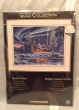 """Dimensions Gold Collection """"Aurora Cabin"""" Counted Cross Stitch Kit NIP"""