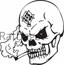 Skull Sticker 50cm x 50cm Graphic All Colours Vinyl Decal - Skull028