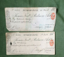 More details for 1902 sunbury bank antique chequebook thomas fredk & skidmore ashby 26 cheques