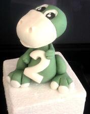 9cm Edible Fondant Gum Paste Sugar Dinosaur with Age, Birthday Cake Topper Set