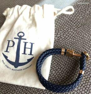 Bracelet Paul Hewitt Acier Inoxydable Nylon Bleu Marine