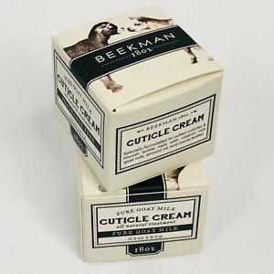 Beekman Cuticle Cream PAIR New Pure Goat Milk Organic Natural