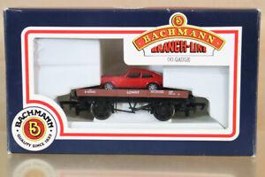 BACHMANN 33-411 BR BROWN LOWFIT WAGON B450050 & RED FORD CAPRI CAR LOAD MIB nz