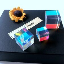 Three pieces/sets of color prism K9 glass spectroscope rainbow glass