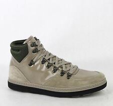 New Gucci Men's Tan Patent Leather Suede Hi-top Sneakers 8.5G/US 9 368496 1563