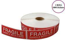 Fragile - Handle With Care Stickers, 1X3, (1000 Per Roll)