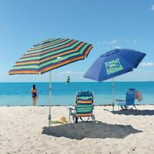 TOMMY Bahama 8' Beach Umbrella w/ Tilt Multi-Color or Blue LIMITED STOCK GET NOW