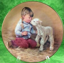 Hamilton Collection Magic Of Childhood 1985 Getting Acquainted 4th Lamb Girl