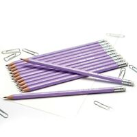 12 Lilac HB Pencils Personalised with Name High Quality Printed/Embossed Pencils