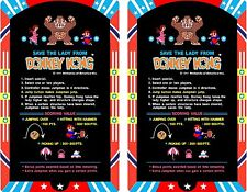 Arcade Donkey Kong Cocktail Instruction Card