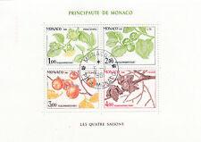 282495 / Flora gestempelt Block Monaco