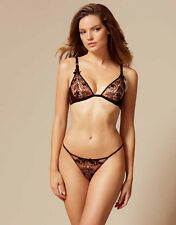 AGENT PROVOCATEUR PETRA PEEKABOO BRA & BRIEF SET SIZE 34C MEDIUM 10-12 / AP3