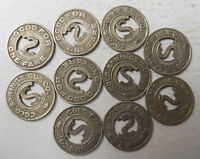 Lot of 10 Colorado Springs Bus Company (Colorado) transit tokens - CO140D