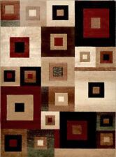 "Modern Blocks Cube Area Rug 5x7 Geometric Squares Carpet - Actual 5'2"" x 7'2"""