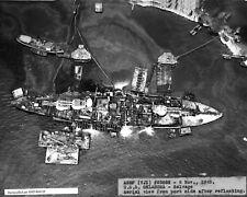1943 World War 2 Photo-Pearl Harbor-USS Oklahoma Refloats after Japanese Sinking