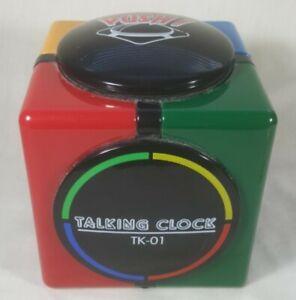 Vintage TALKING CLOCK CUBE TK-01 RARE Free Shipping! 1980's Digital Working