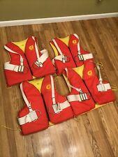 Lot of 4 Cut N' Jump Water Ski Vest Trick w/Jim Buoy D-Ring Harness Strap 1008