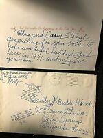 YANKEES CASEY STENGEL SIGNED RARE ORIG. XMAS CARD SENT IN 1970 W/PSA & ENVELOPE!