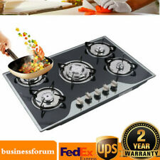 "35.4"" Cooktop Gas Stove Built-in 5 Burner Lpg/Ng Gas Cooking Easy to Clean Usa"