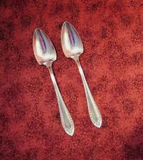 SHERATON-TWO FRUIT SPOONS - Community Silverplate c. 1910- SHERATON - mono