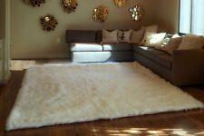 Faux fur rug White Shaggy Rug rectangle shape plush Sheepskin 7'x9' Bedroom