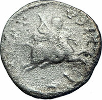 Septimius Severus on horse 193AD Authentic Silver Ancient Roman Coin i78205