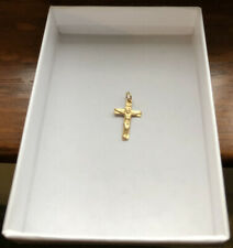 Religious Small Crucifix Cross Pendant 14k Gold 1/2 Inch Long