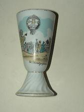 Mazagran Ballon Monté  La Mongolfière An 1800 Porcelaine Limoges R Leslair