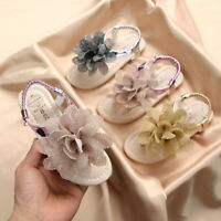 Toddler Kids Baby Girls Shoes Princess Shoes Solid Casual Shoes Flower Sandals