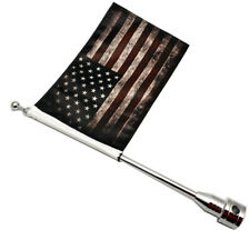 Universal Motorcycle American Retro USA Flag pole Luggage Rack Mount For Harley