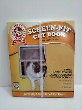 """Ideal Screen Fit Cat Dog Pet Door Window Screen Door Flap Grey 9.75"""" x 10.5"""""""