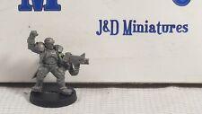 GW Warhammer 40K Astra Militarum Catachan Jungle Fighter Lieutenant Metal OOP