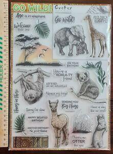 GO WILD Crafty Individuals Stamp Collection. Zoo Animals Australia