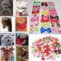 Cute 100Pcs/Bag Pet Cat Dog Hair Bows & Rubber Bands Pet Grooming Accessories
