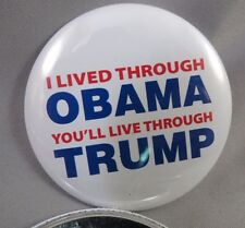 WHOLESALE LOT OF 22 I LIVED THROUGH OBAMA YOU'LL LIVE THROUGH TRUMP BUTTONS USA