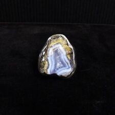 Ring Gr. Silber 925 mit Chalzedon Geode Natur