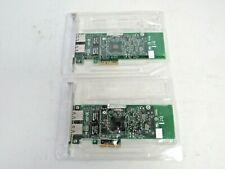 Lot of 2 Dell 01P8D1 1P8D1 Intel G18758-003 2-Port Pcie Gigabit Net Card 22-2