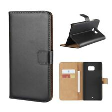 HTC U Ultra Wallet Case Genuine Split echt Leder Book Etui Schutz hülle Cover