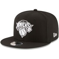 New York Knicks New Era 9Fifty Black White Logo Court Snapback Hat Cap MLB