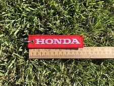 Honda Red-White Key Chain Fob Embroidered Key Motorcycle Car Truck Locator - NEW