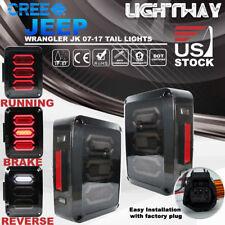 07-17 Jeep Wrangler JK LED Tail Light Turn Reverse Brake Signal Rear Smoke Lamps