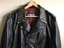$1400 Limited Edition Schott NYC Studded Leather Biker Riders Jacket Sz XL