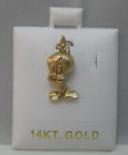ADORABLE TWEETY BIRD 14K Y. GOLD PENDANT SIGNED MO ON CUSHIONED JEWELRY CARD **