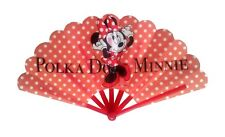 """Disney Fächer """"Minnie Mouse Pünktchen"""" Handfächer China Japan Sommer Urlaub süß"""