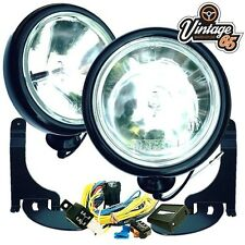 BMW Mini One & Cabriolet Black Spot light Driving Lamps Brackets & Wiring Kit